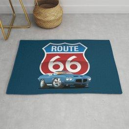 Route 66 Classic Car Nostalgia Rug