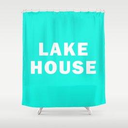 Lake House - Aqua Shower Curtain