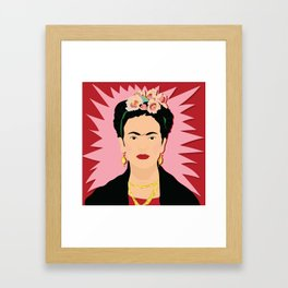 Frida Khalo (Red) | Bad Ass Women Series Framed Art Print