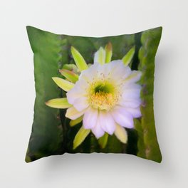 Shy Beauty Throw Pillow