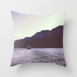 Sternwheeler on Lake Tahoe Throw Pillow