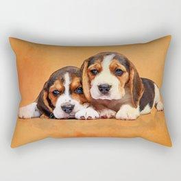Cute Beagle puppies Rectangular Pillow