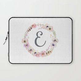 Floral Wreath - E Laptop Sleeve