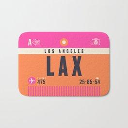 Luggage Tag A - LAX Los Angeles Bath Mat