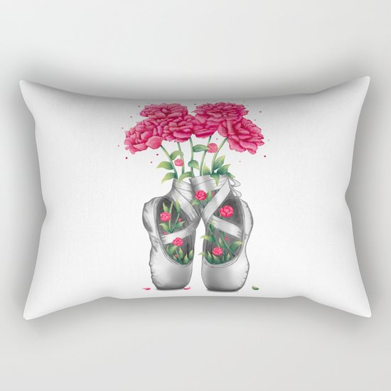 Pointe with pink peonies Rectangular Pillow
