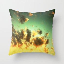 NEPHELAI SERIES Radiant sunset sky  Throw Pillow