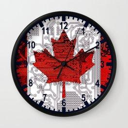 circuit board Canada (Flag) Wall Clock