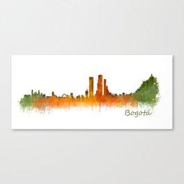 Bogota City Skyline Hq V2 Canvas Print