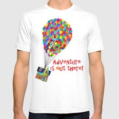 Up! Adventure is Out There! Mens Fitted Tee SMALL White