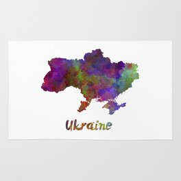 Ukraine in watercolor Rug