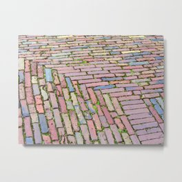 Brick pavement Metal Print