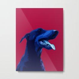 Doberman Pop art portrait. Metal Print