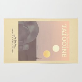 Retro Travel Poster Series - Star Wars - Tatooine Rug