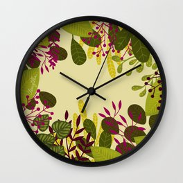 Belle plante Wall Clock