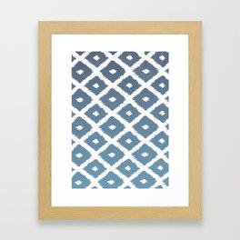 Ikat Linocut Framed Art Print
