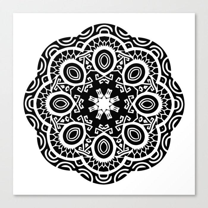 b9a990bf9 Polynesian style mandala tattoo 2 Canvas Print by annaki | Society6