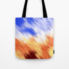 blue brown and white painting texture abstract background Tote Bag