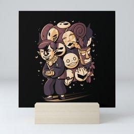 Happy Spooky Salesman Mini Art Print