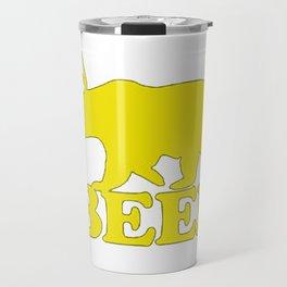 """Funny """"Beer"""" Design T-Shirt Travel Mug"""