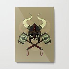 Viking skull Metal Print