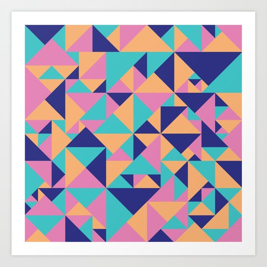 Triangular Art Print