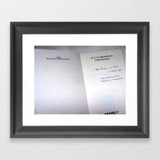 Message in A Book Framed Art Print
