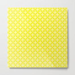Trellis_Yellow Metal Print