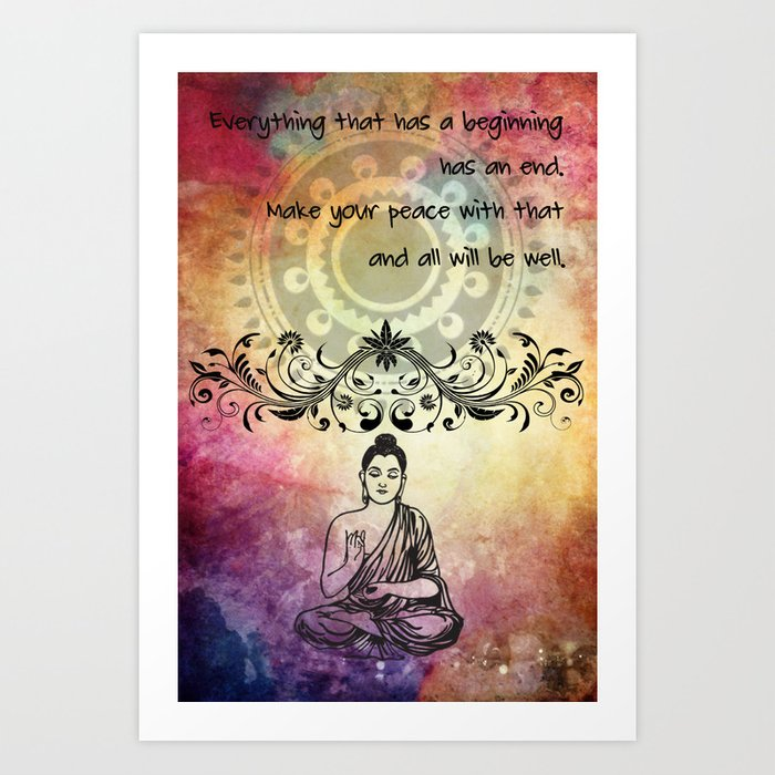 Zen Art Inspirational Buddha Quotes Life Art Print By Jbjart Society6