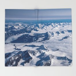 Aerial Glacier Four - Alaska Throw Blanket