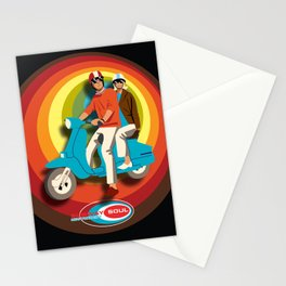 'Scooter Pair' Subway Soul by Dawn Carrington Stationery Cards