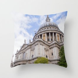 St. Paul's Cathedral | London Europe City Architecture Photography Throw Pillow