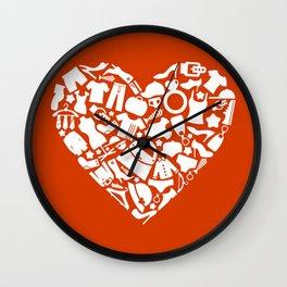 Heart clothes Wall Clock