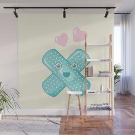 Pastel Happy Plaster Wall Mural