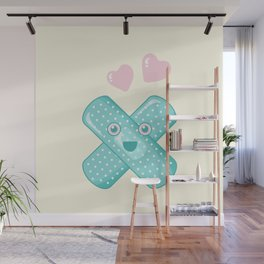 Pastel Happy Plaster Wall Mural