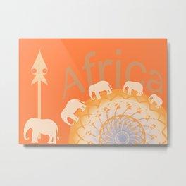 Africa elefants Metal Print