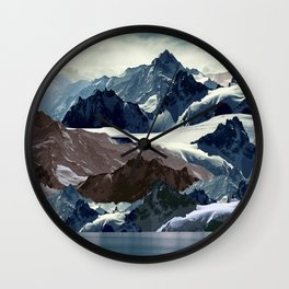 Winter  mountains Wall Clock