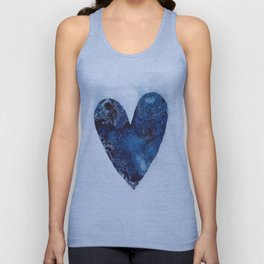 Blue Heart Unisex Tank Top