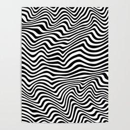 Op Art Stripes Poster