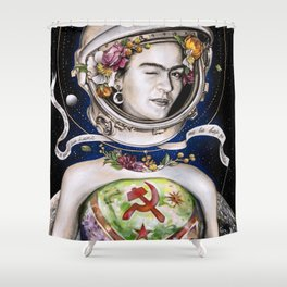 First woman on the Moon Shower Curtain