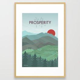 Prosperity Day Framed Art Print