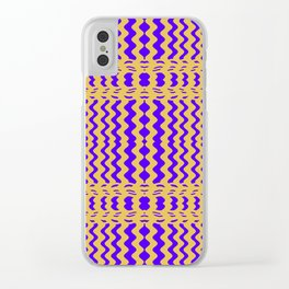 Bright Purple Yellow Wavy Lines Clear iPhone Case