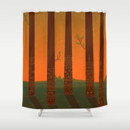 Trees of the Tribe Shower Curtain