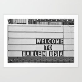 Welcome to Harlem Art Print