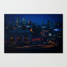 Blue Winter Lights Canvas Print