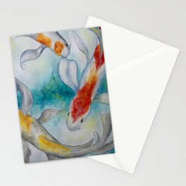Fire Koi Stationery Cards