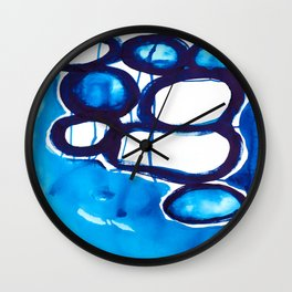 Paint 4 abstract modern art urban home decor dorm college fine art canvas painting print affordable Wall Clock