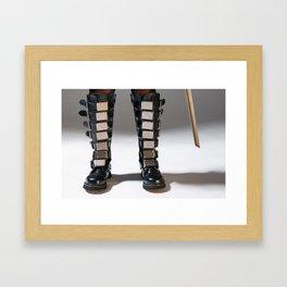 The Heroine Stands Framed Art Print