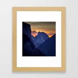 Half Dome Sunrise ~ Yosemite National Park Framed Art Print