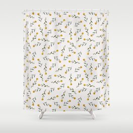 Yellow Knobs Shower Curtain