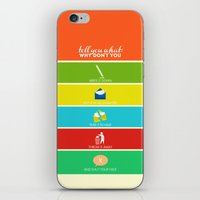 cabin pressure iPhone & iPod Skins featuring Cabin Pressure: Shut Your Face! by robin